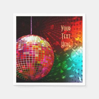 Disco-Nachtsiebziger jahre Retro Papierservietten