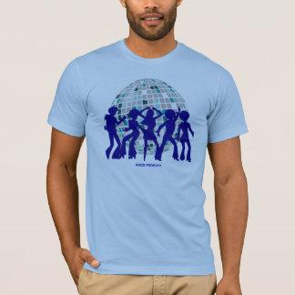 Disco-T-Stück Sammlung: Disco-Blau-Ball T-Shirt
