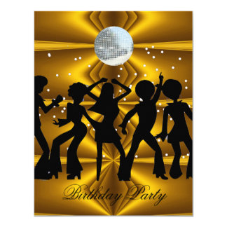 Disco-Tanz-Geburtstags-Partydiscoball Karte