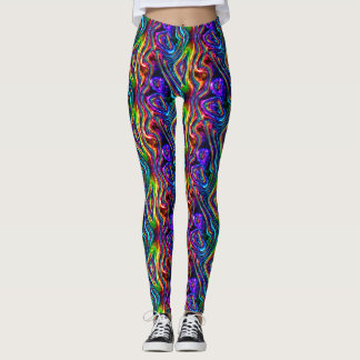 DISCO-VEREIN-NEONlicht-PARTY-Mosaikwellen Leggings