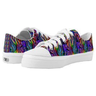 DISCO-VEREIN-NEONlicht-PARTY-Mosaikwellen Niedrig-geschnittene Sneaker