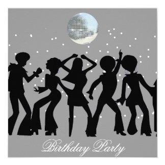 Discosiebziger jahre Geburtstags-Party Einladung