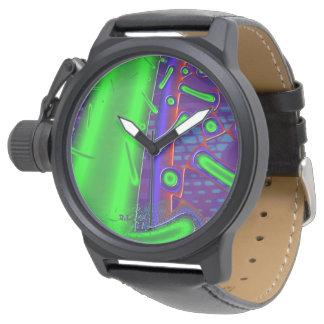 Discotech-dichroikes GlasFraktal Uhr