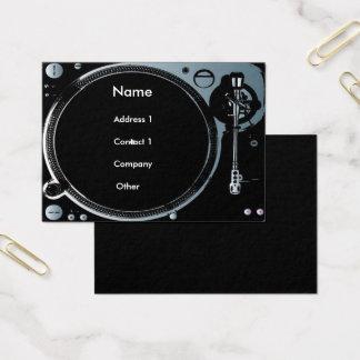 Diskjockey-Visitenkarten Visitenkarte