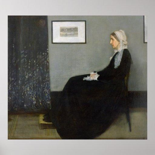 Disposition dans No.1 gris et noir Affiche