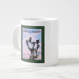 Distel GUs Bràth Schottland Saltire Celtic alba Jumbo-Tasse