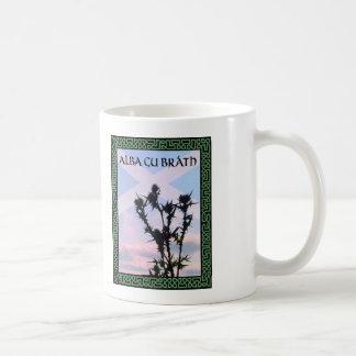 Distel GUs Bràth Schottland Saltire Celtic alba Kaffeetasse