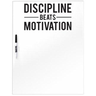 Disziplin schlägt die inspirierend Motivation - Memoboard