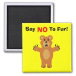 Dites NON à la fourrure ! Aimant Pour Réfrigérateur