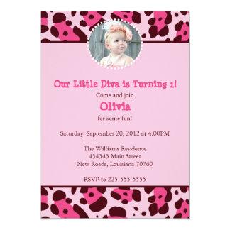 Diva-Geburtstags-Party 12,7 X 17,8 Cm Einladungskarte