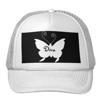 Diva-Schmetterling I Baseball Kappen