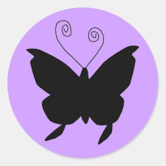 Diva-Schmetterling Runder Aufkleber