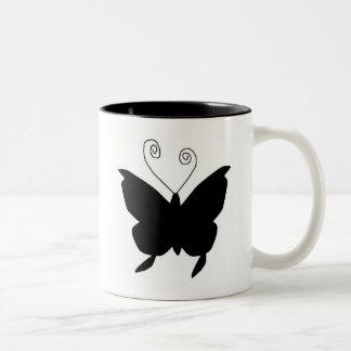 Diva-Schmetterling Zweifarbige Tasse
