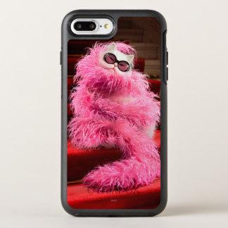 Diva-weiße Katze eingewickelt in der rosa Boa auf OtterBox Symmetry iPhone 8 Plus/7 Plus Hülle