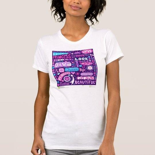 Diva-Wort-Kunst-Prinzessin T-Shirt