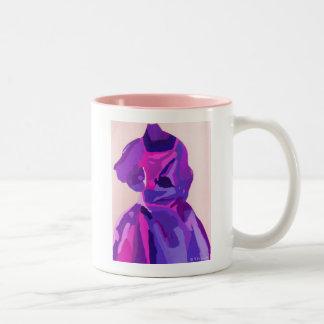 DivaFashionista im Blau Zweifarbige Tasse
