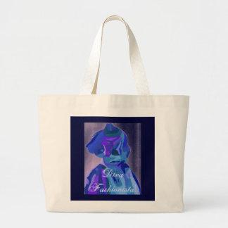 DivaFashionista in Blau I Einkaufstaschen