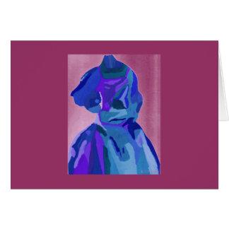 DivaFashionista in Blau I Grußkarte
