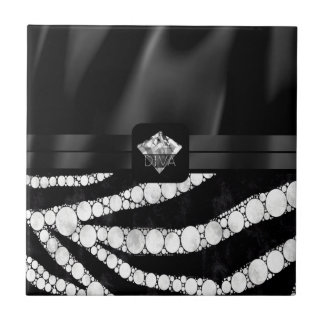 DivaSilk Zebra-Diamant Kleine Quadratische Fliese