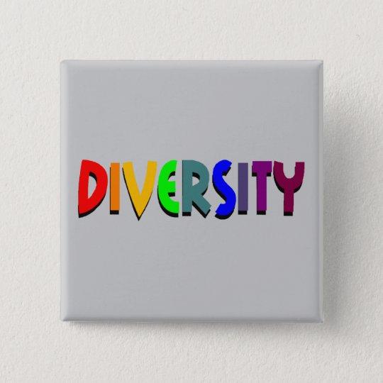 Diversity-quadratischer Knopf Quadratischer Button 5,1 Cm