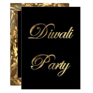Diwali Party Einladungs-elegantes Schwarzes und 12,7 X 17,8 Cm Einladungskarte