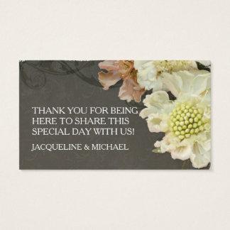 DIY Bevorzugungs-Geschenk etikettiert Wedding Visitenkarte