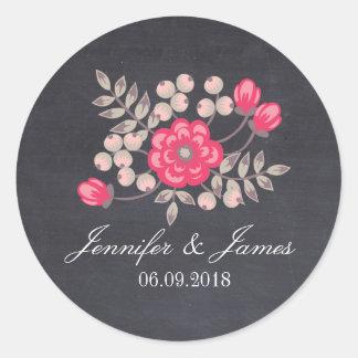 DIY, das Blumentafelbevorzugungsaufkleber Wedding Runder Aufkleber