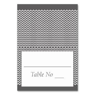 DIY Falten-Tented Platzkarte-Zickzack Grau Karte