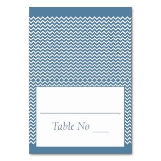 DIY Falten-Tented Platzkarte-Zickzack Seeblau Karte