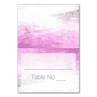 DIY Falten-Tented PlatzkartenWatercolor lila Karte