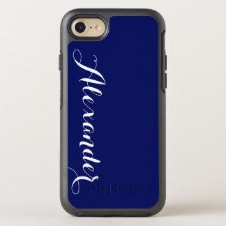 DIY Farbhintergrund, Namensmonogramm Notiz: OtterBox Symmetry iPhone 8/7 Hülle