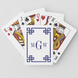 DIY Hintergrund-griechisches extravagantes Spielkarten