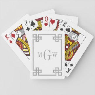 DIY Hintergrund griechisches extravagantes Spielkarten