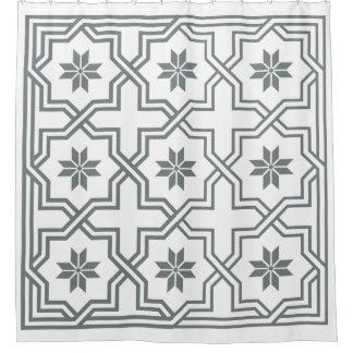 DIY Hintergrund-Holzkohle byzantinisches Duschvorhang