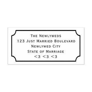DIY Hochzeits-Rücksendeadresse-Tafel-Rahmen-Art Permastempel