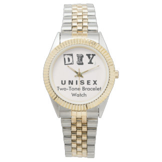 DIY - Unisexc$zwei-ton Armband-Uhr-Männer/Frauen Armbanduhr