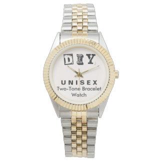 DIY - Unisexc$zwei-ton Armband-Uhr-Männer/Frauen Uhr