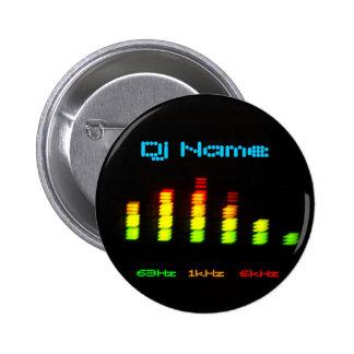 DJ addieren Ihr kundenspezifisches Entzerrer-Namen Runder Button 5,7 Cm
