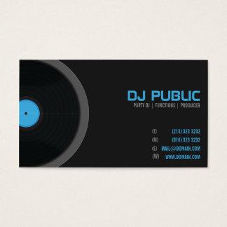 DJ-Diskjockey-Diskjockey-Musiker Visitenkarte