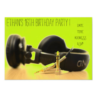 DJ-funky cooles Jugendjungen-Geburtstags-Party Karte