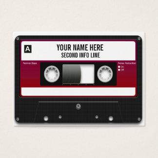 DJ-Kassette Mixtape Visitenkarte