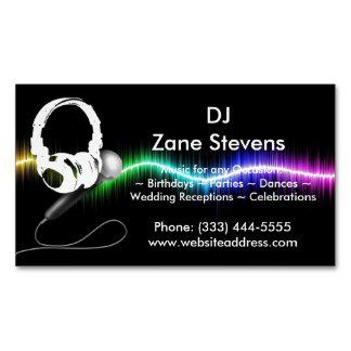DJ-Mikrofon-Kopfhörer-Visitenkarte-Magnet Magnetische Visitenkarten