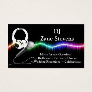 DJ-Mikrofon-Kopfhörer-Visitenkarte-Schablone Visitenkarte