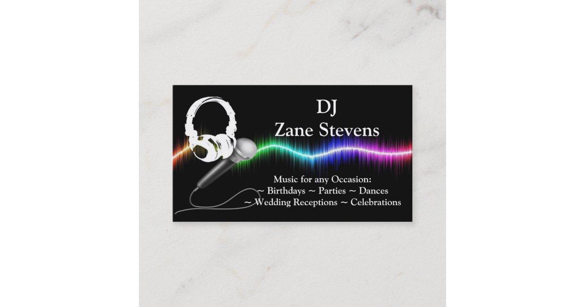 DJ-Mikrofon-Kopfhörer-Visitenkarte-Schablone Visitenkarte | Zazzle.ch