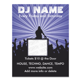 DJ-Namensmusik-Flyer