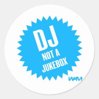 DJ nicht ein Musikautomat Runder Aufkleber