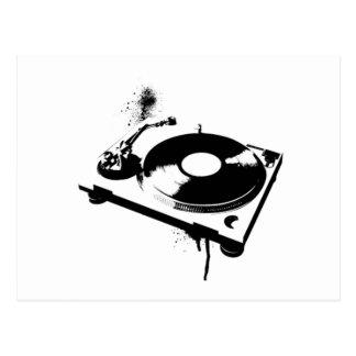 DJ-Turntable Postkarte