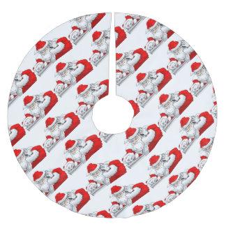DJ Weihnachtsmann, der die WeihnachtsParty-Bahn Polyester Weihnachtsbaumdecke