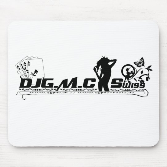 DJGMC-Swiss - BW Logo Mauspad