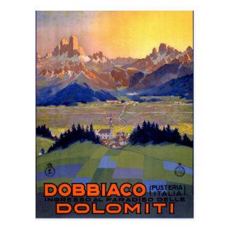 Dobbiaco Toblach Italien Vintages Reise-Plakat Postkarte